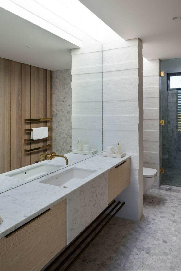espejos de baño grandes decorar pared