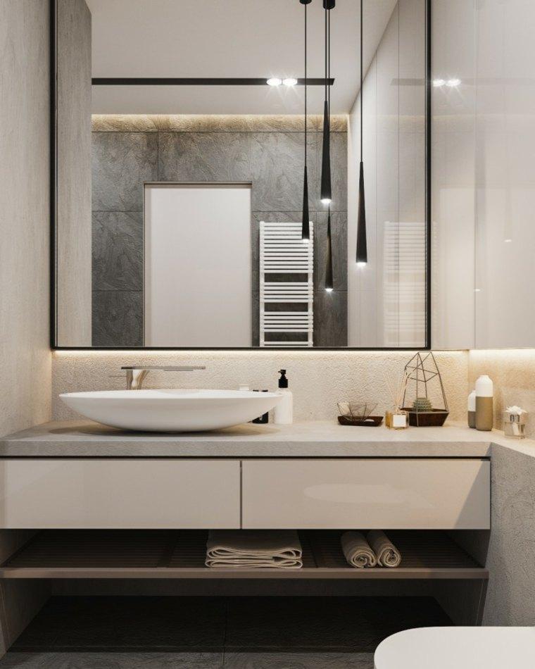 espejos de baño grandes decorar