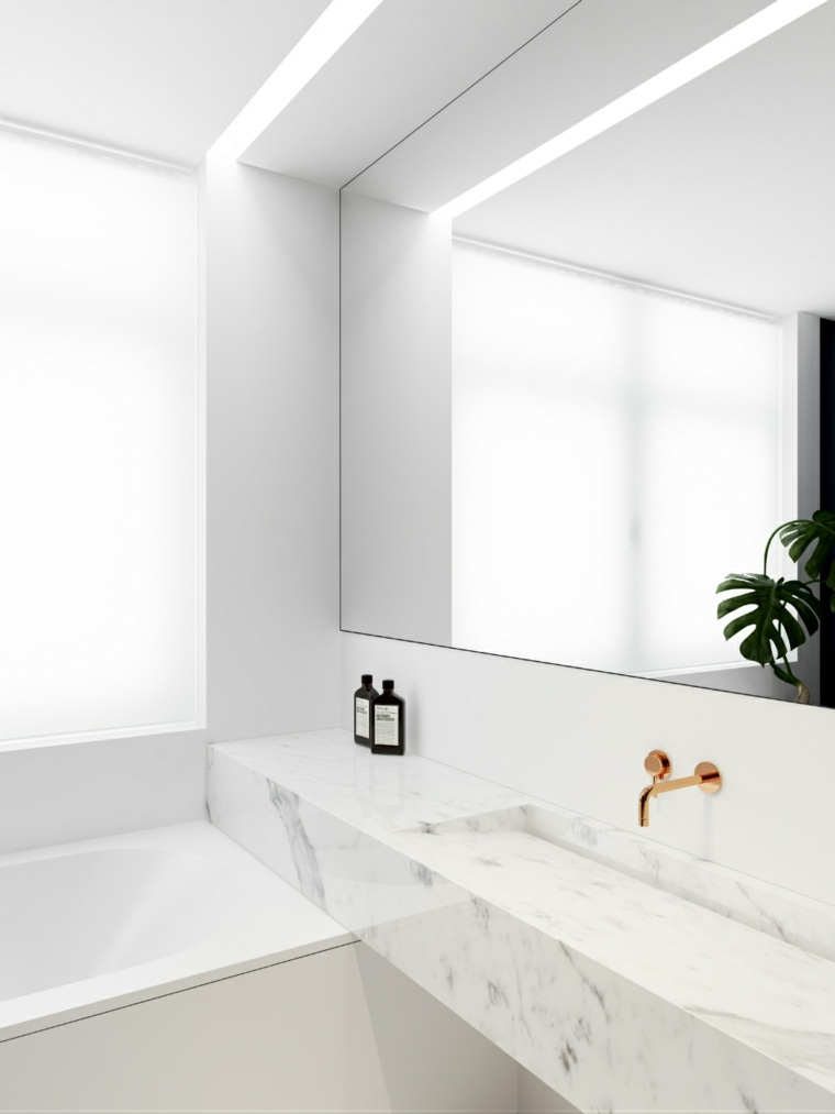 espejos de ba o grandes para decorar el interior. Black Bedroom Furniture Sets. Home Design Ideas