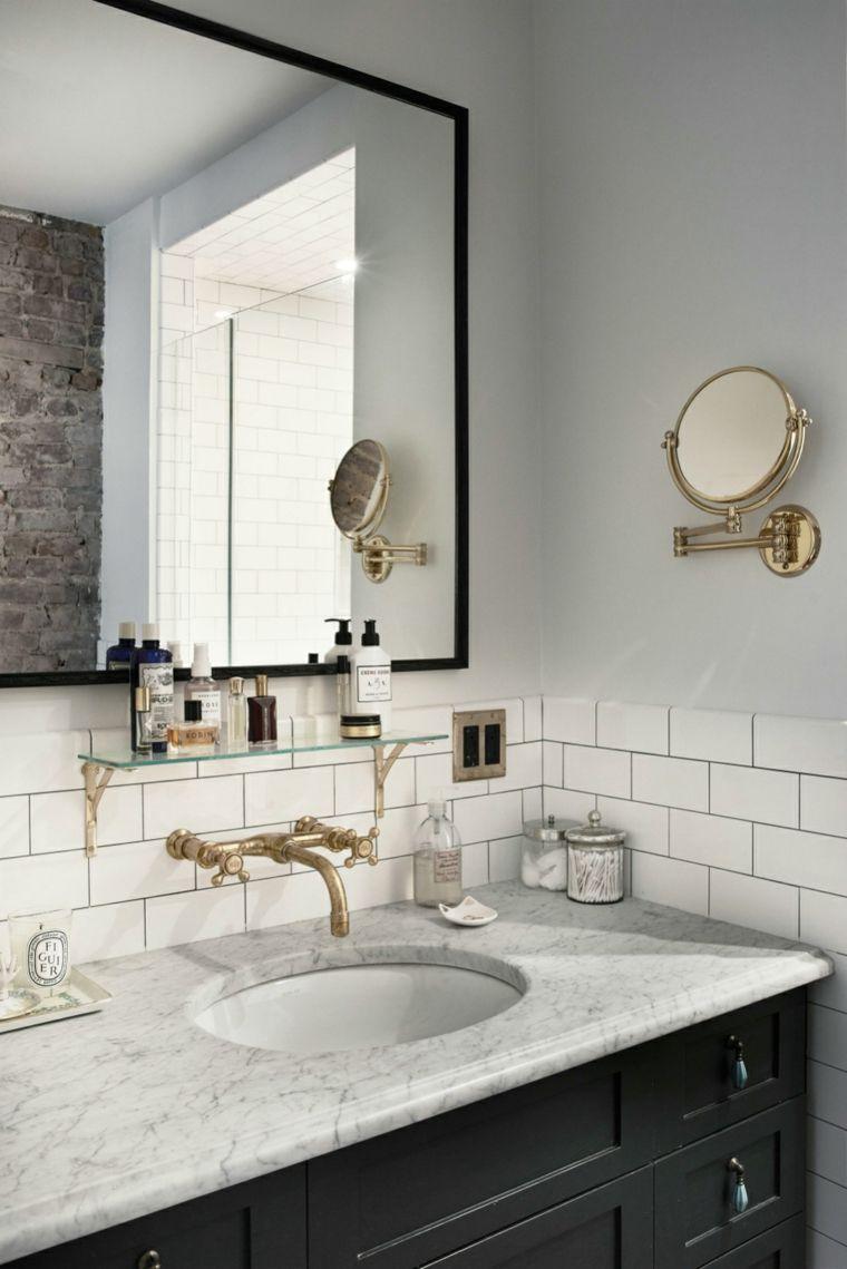 Espejos de ba o grandes para decorar el interior for Marcos para espejos grandes modernos
