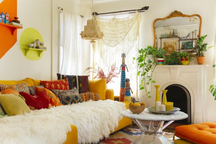 estilo boho chic sala especiales colores imagenes muebles