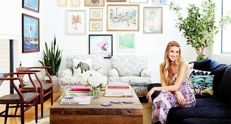 estilo boho chic salones colores muebles materiales