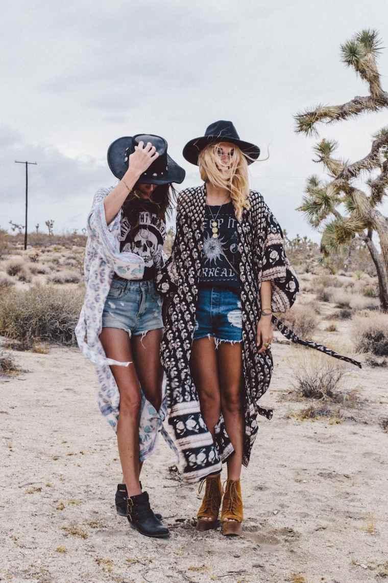 estilo boho chic sombreros vaqueros ideas