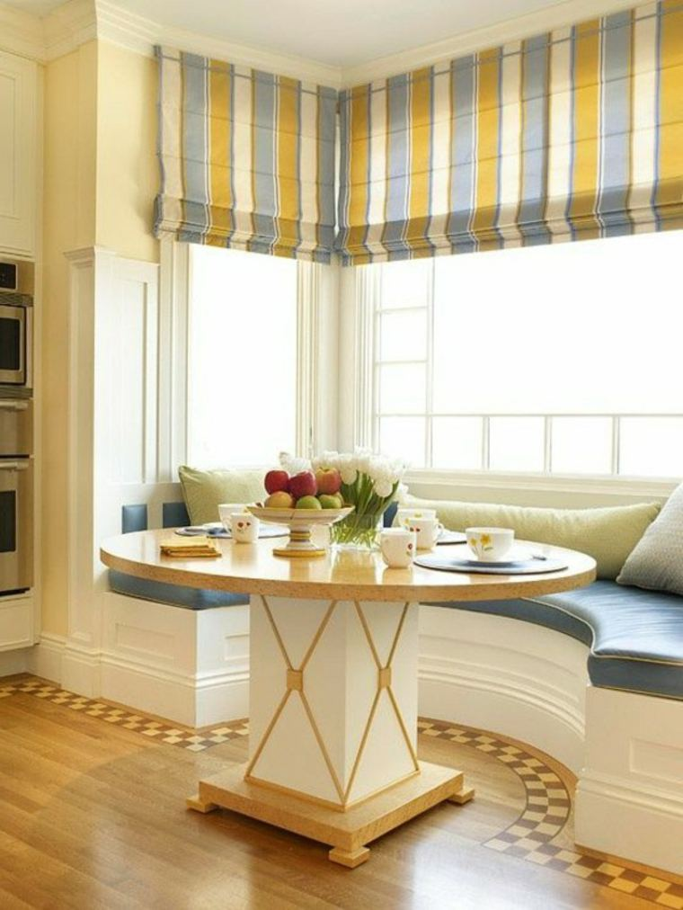 Cortinas para ventanas abatibles dise os funcionales y for Cortinas de comedor