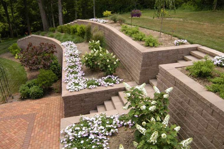 estupendo diseño jardin terarsas