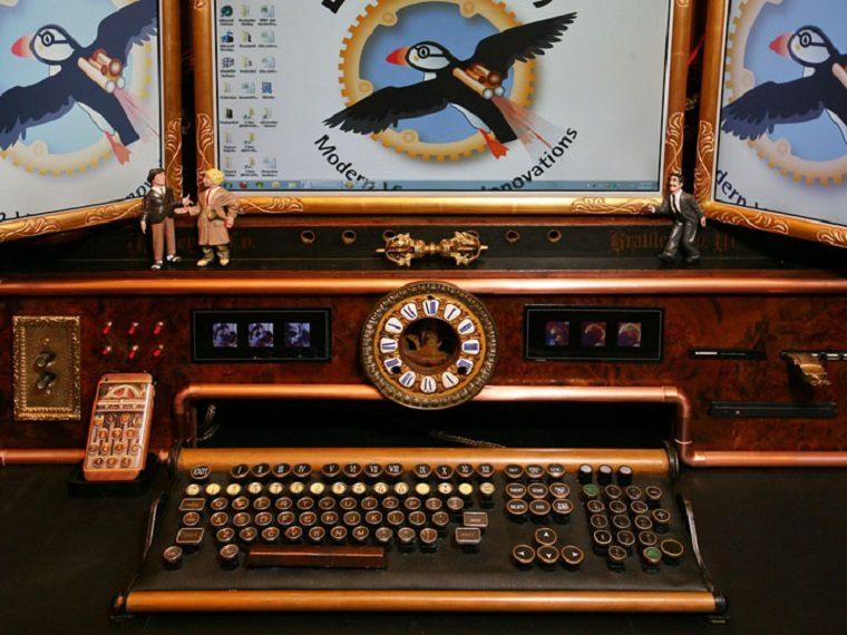 carcasas ordenador steampunk