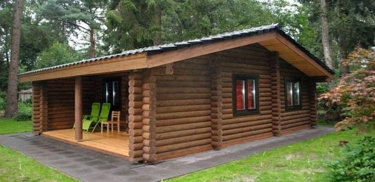original cabaña de madera