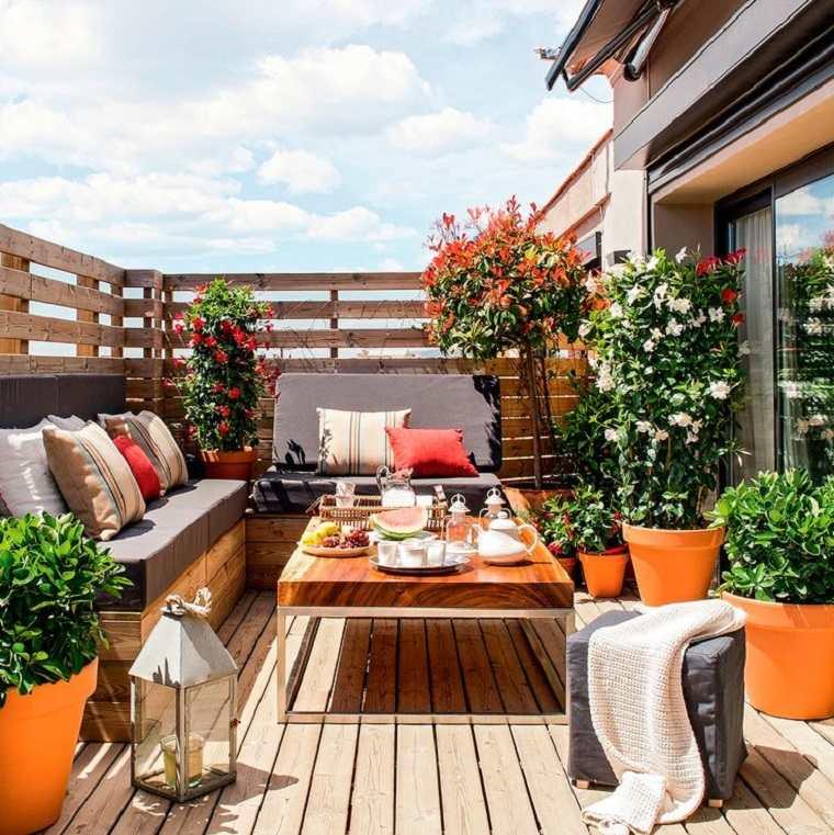 estupenda decoración terraza chill
