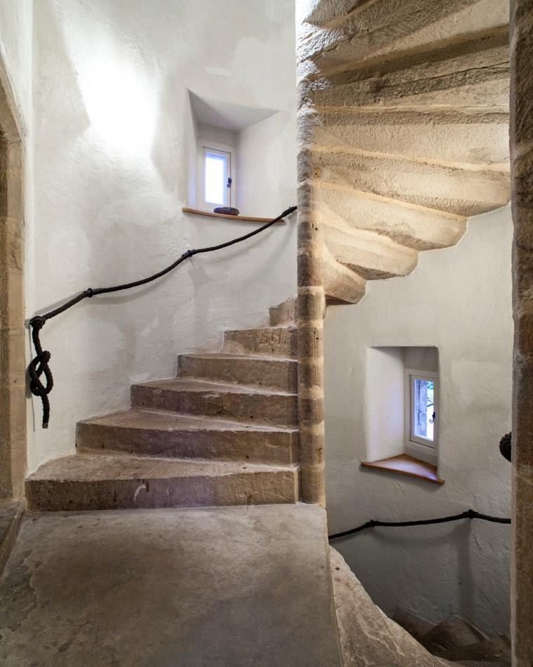 estupenda escalera diseño rustico