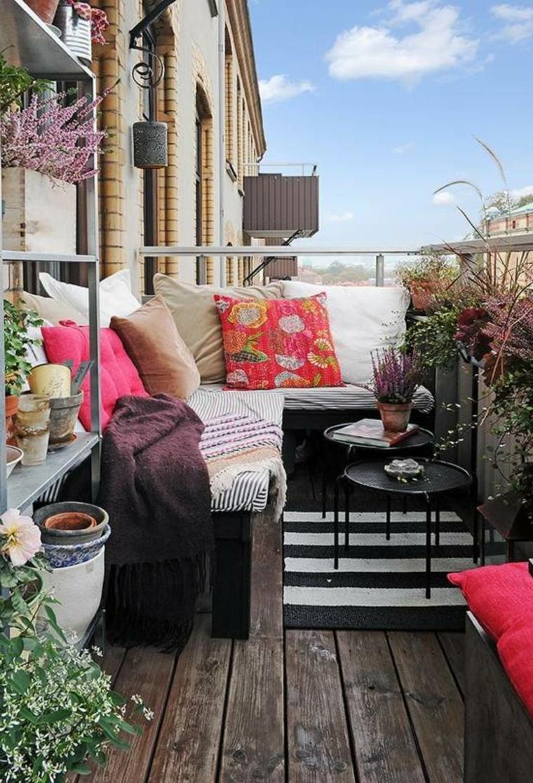 estupenda terraza pequeña chill