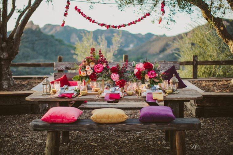 bonita mesa estilo boho