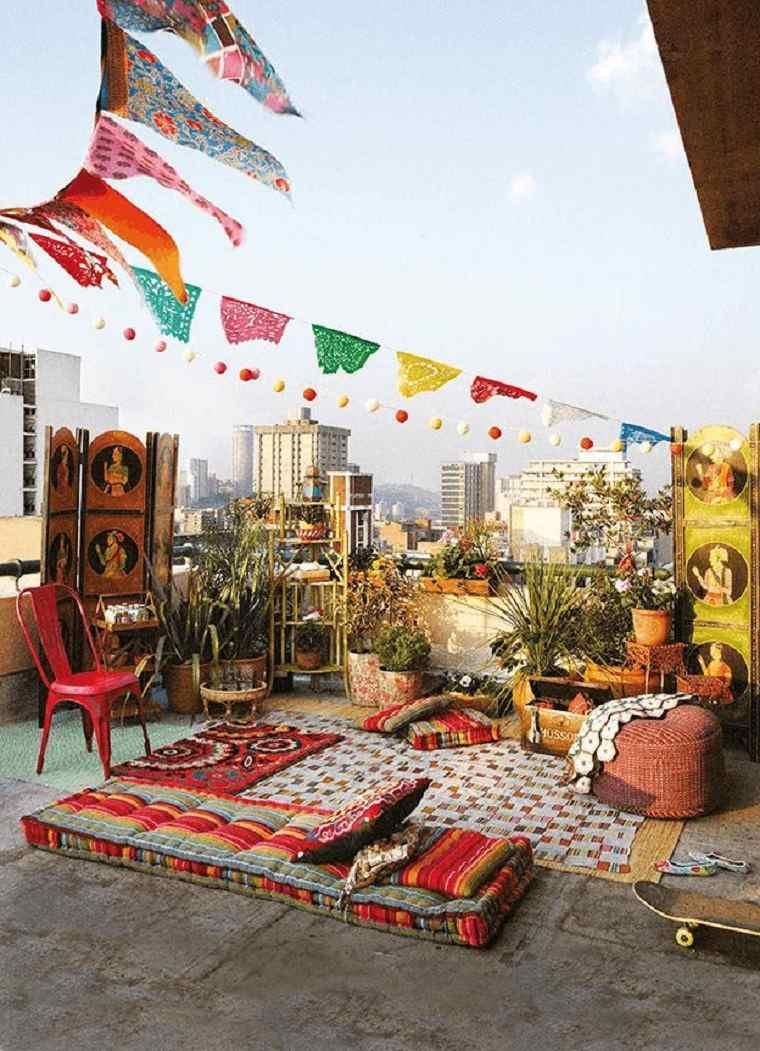 estupenda terraza decoración chill