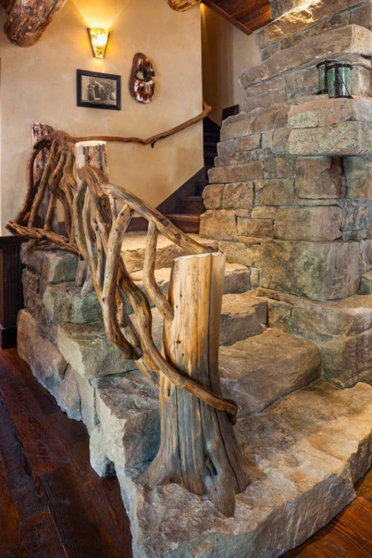 estupendas escaleras rústicas piedra