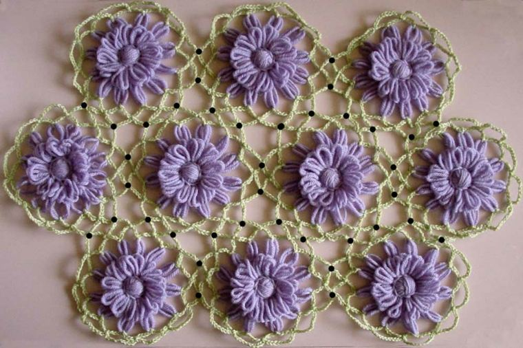 flores de ganchillo decoración casa