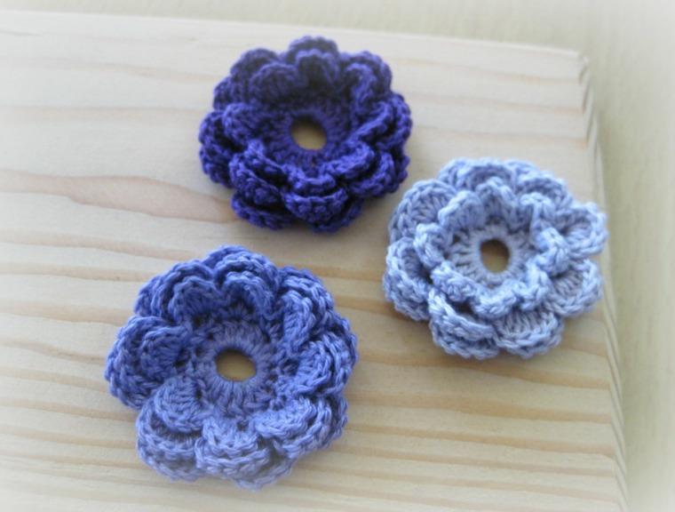 flores de ganchillo decoración interior