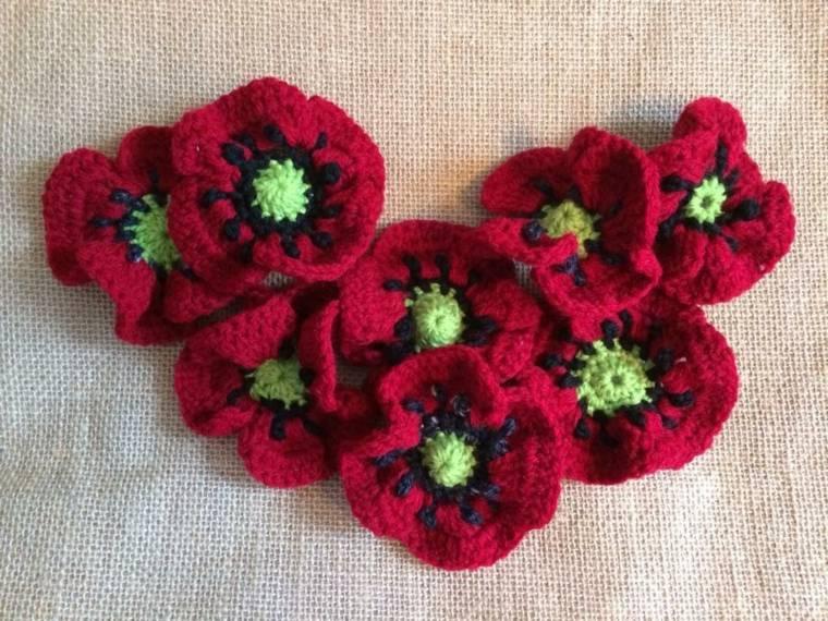flores de ganchillo decorar casas