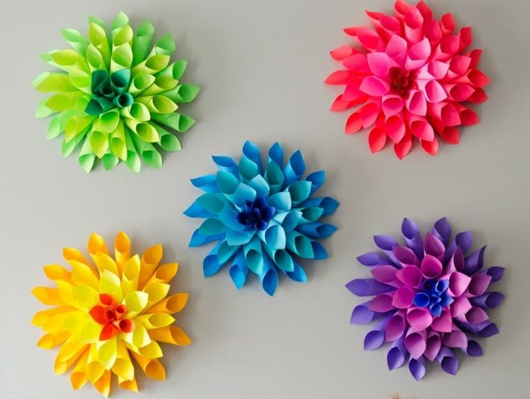 Flores de papel para decorar el interior de vuestra casa - Decorar pared con papel ...
