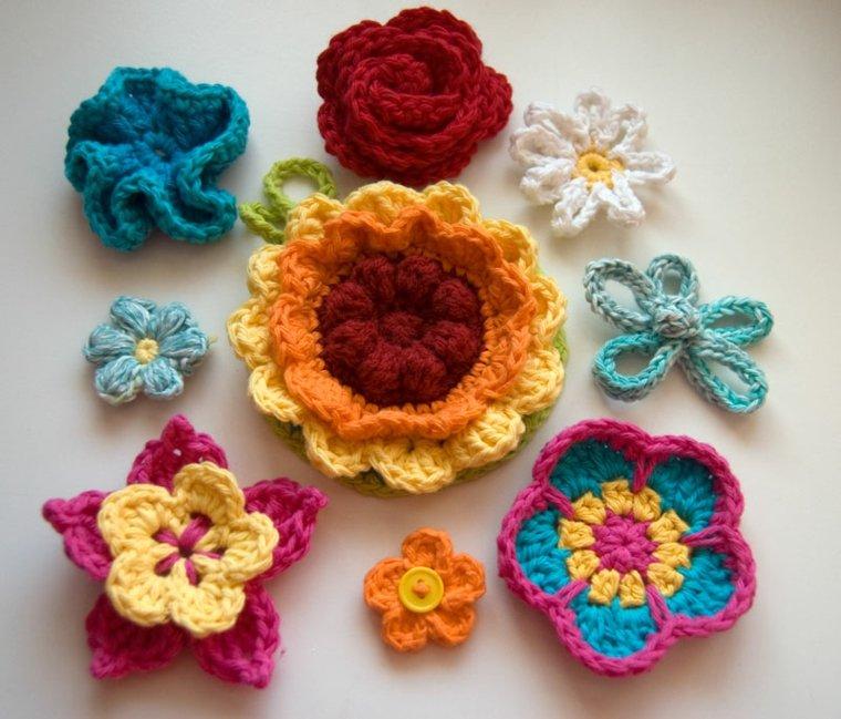 flores ganchillo decorar