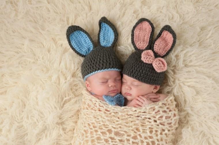 gemelos conejos inspiraciones conlores bebe