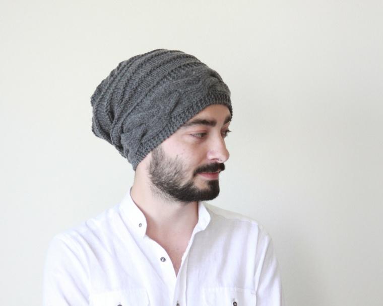 gorros de lana concepto masculino estilo masculino