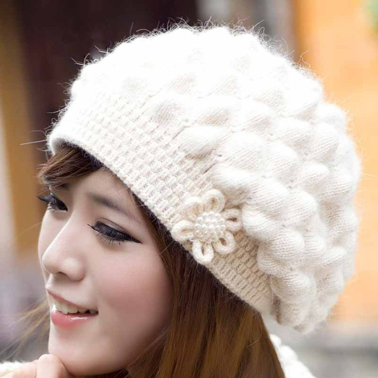 View in gallery gorros de lana idea flor detalle china d88efbfcdd91