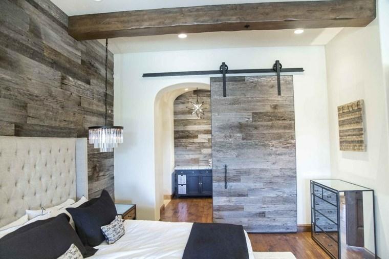 habitación rústica diseño moderno