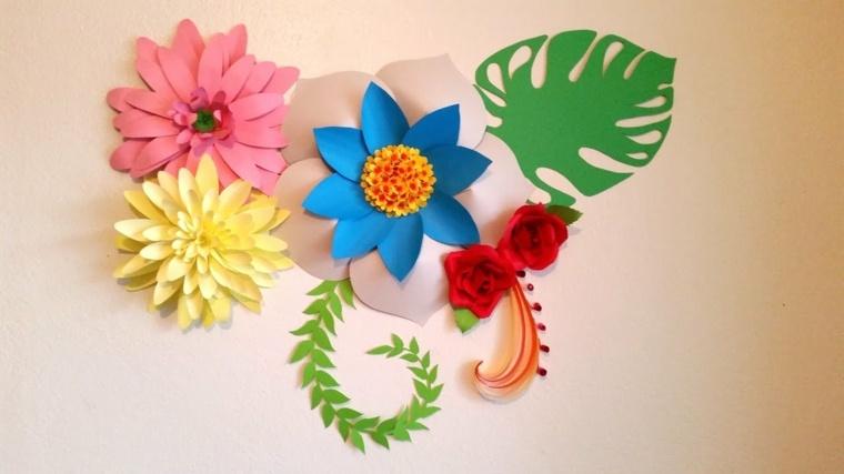 Flores de papel para decorar el interior de vuestra casa - Flores para decorar la casa ...