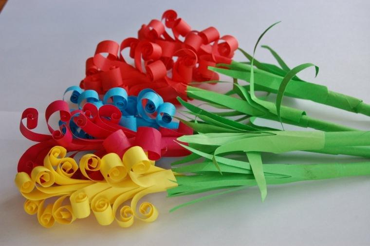 Flores de papel para decorar el interior de vuestra casa -
