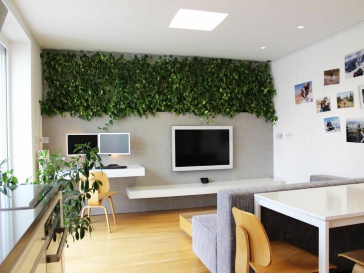 hiedra jardin vertical oficina diseno moderno ideas
