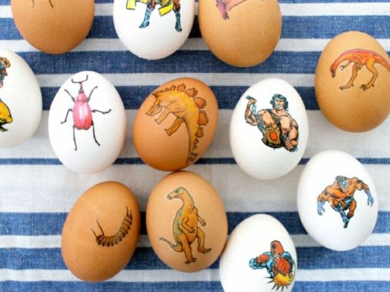 huevos Pascua calcomanías