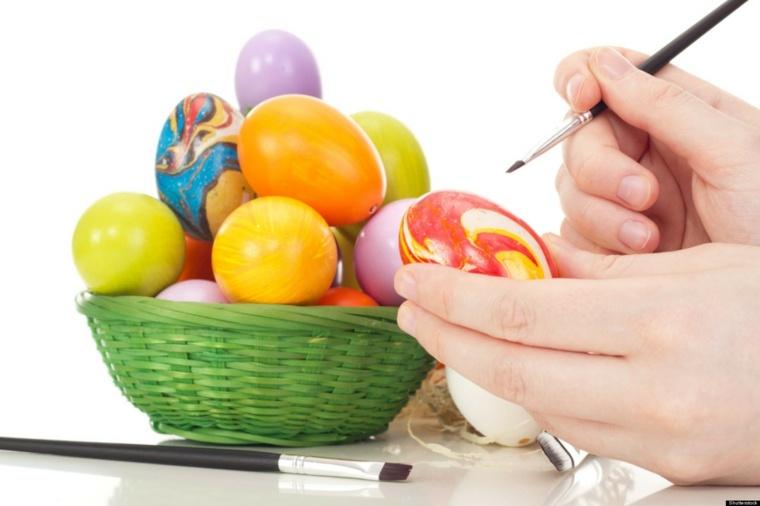 huevos acuarelas