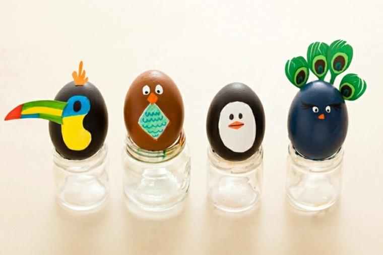 huevos pintados decoraciones imagenes materiales
