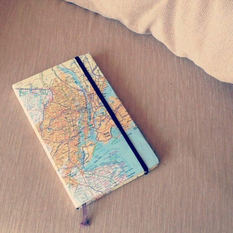 agenda forrada mapa mundo