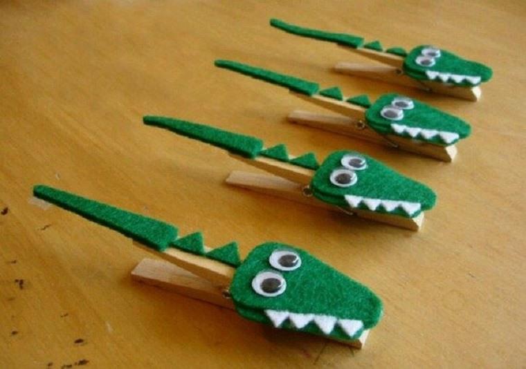 originales cocodrilos pinzas - Manualidades Faciles Para Nios