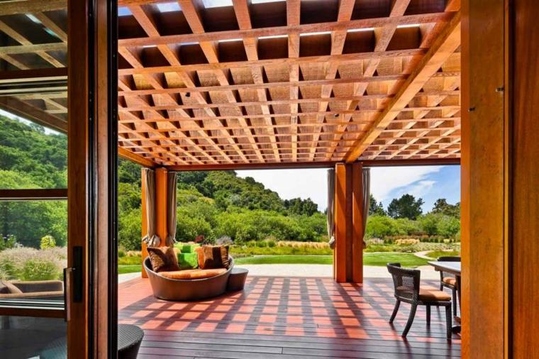 ideas modernas especiales madera cojines nuebles