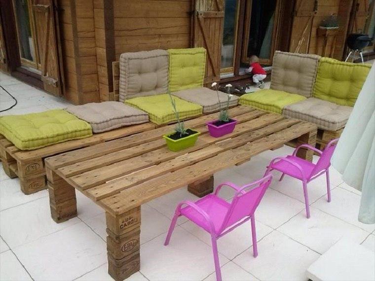 Terrazas con palets m s ideas para la decoraci n de for Muebles terraza palets