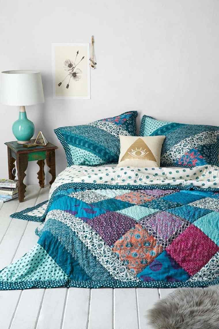 bonita colcha telas patchwork