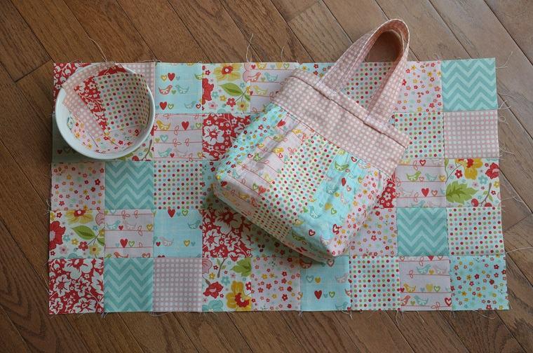 bonito bolso patchwork