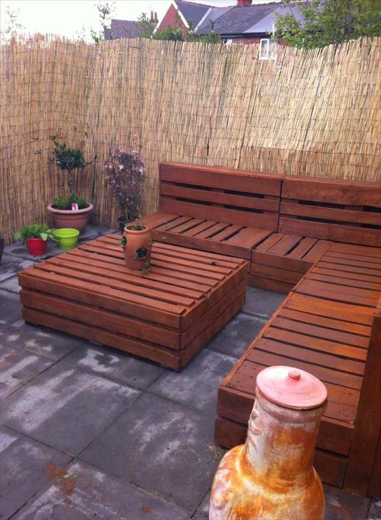 conjunto mesa madera