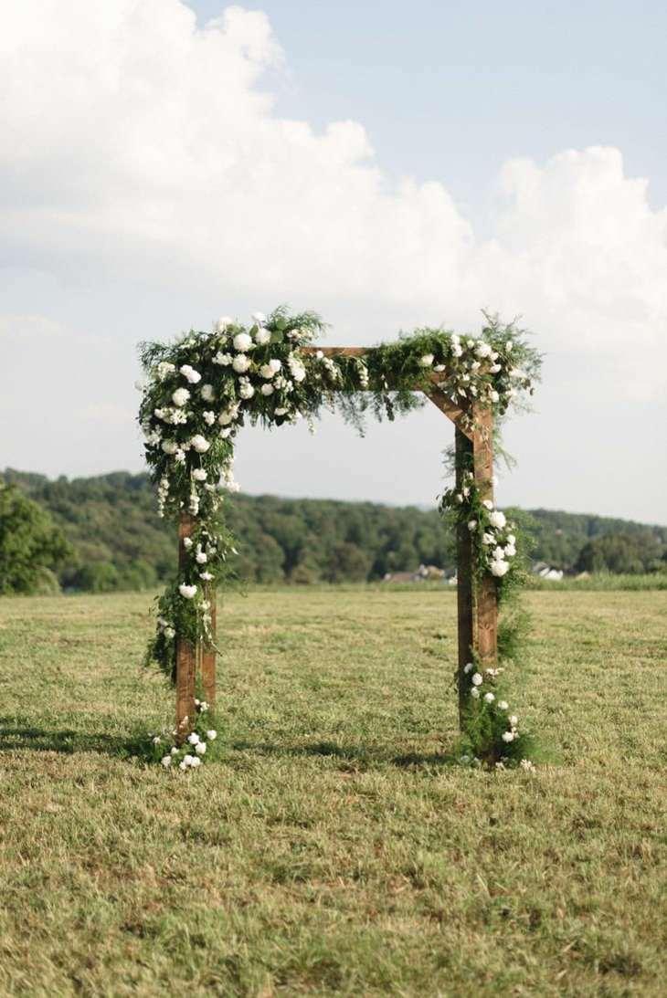 ideas originales para bodas arca madera plantas moderno