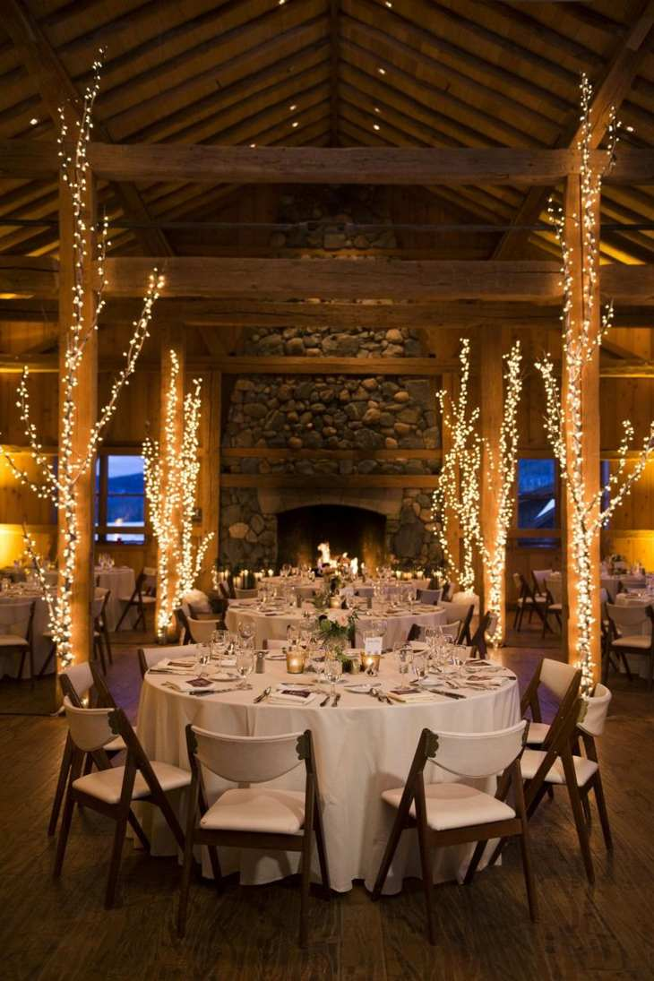 ideas originales para bodas luces estilo rustico ideas