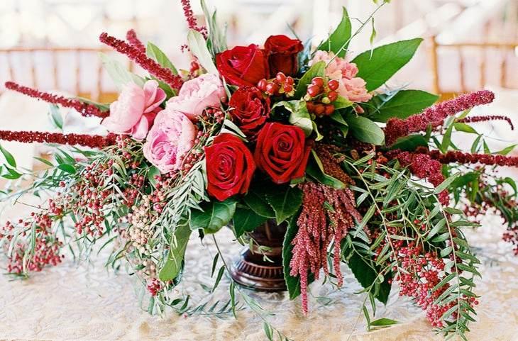 ideas originales para bodas rosas peonias moderno