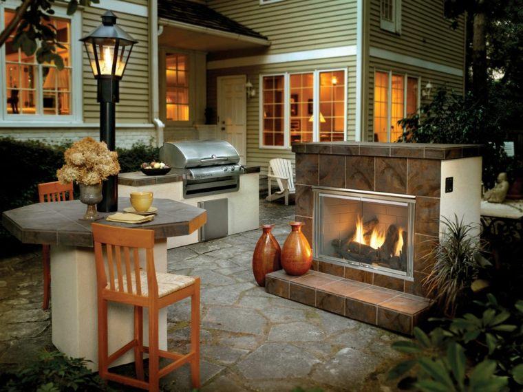 ideas para decorar jardin exterior mesa original moderno