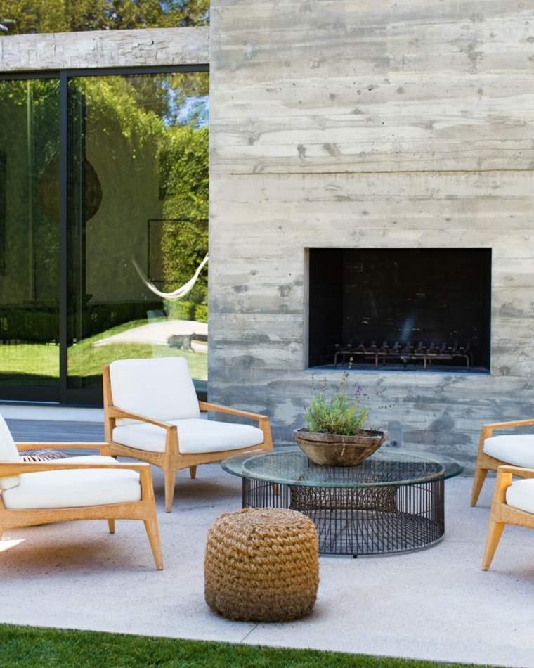 Ideas para decorar el jard n con chimenea al aire libre - Chimeneas para jardin ...