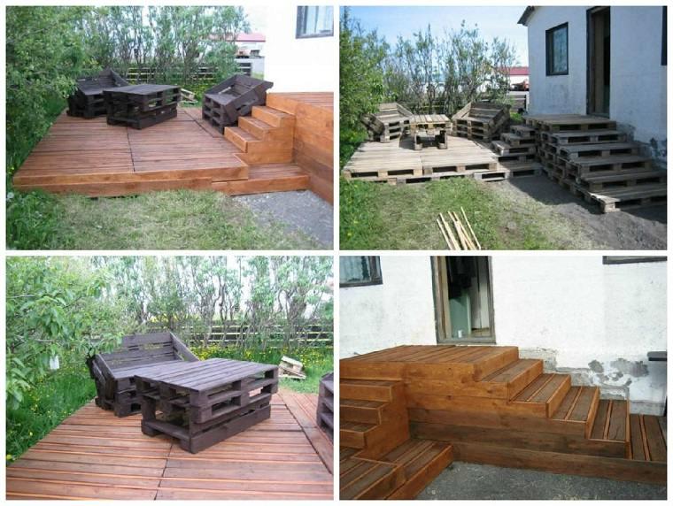 diseño terrazas palets
