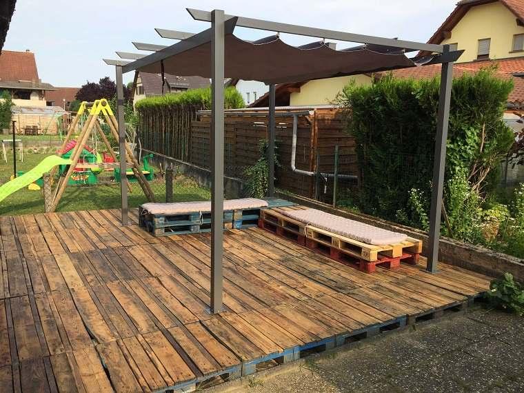 terraza pérgola plataforma