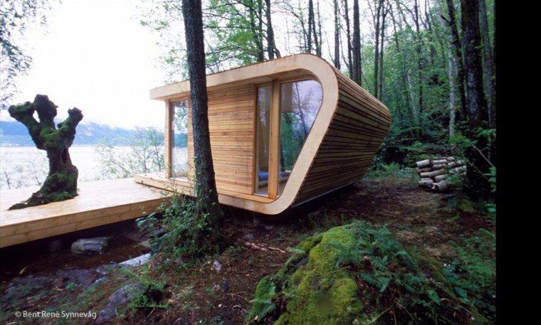 estupendo diseño cabaña