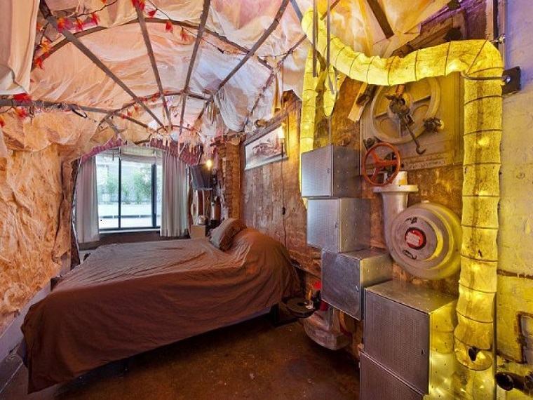 original diseño dormitorio steampunk