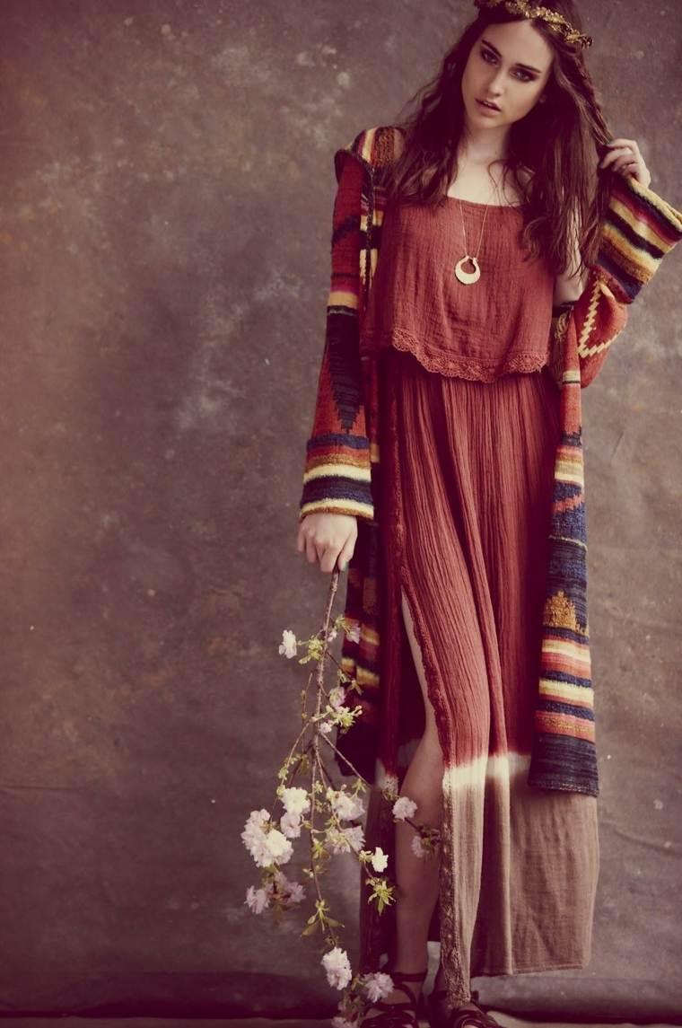 interesantes bohemio tejidos colores flores