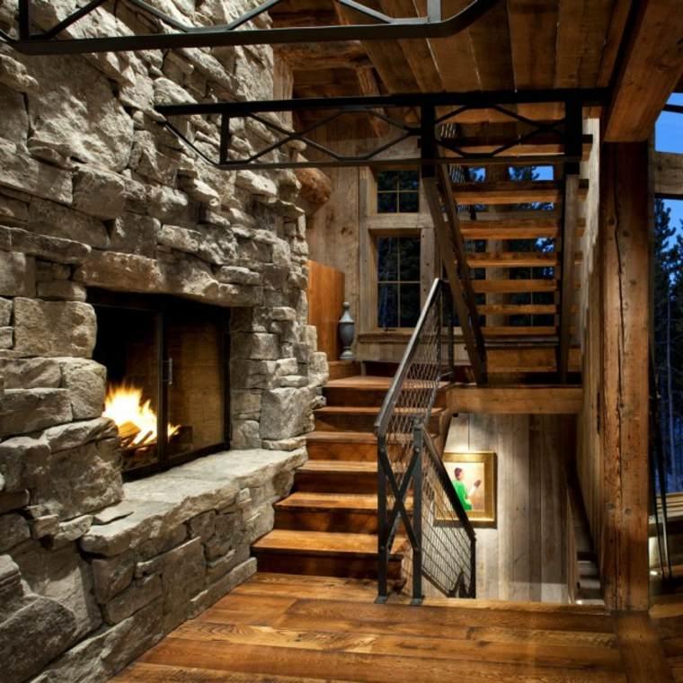 interior estilo rustico escaleras madera with escaleras interiores de madera